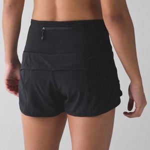 Lululemon 6 Speed Short High Waist Black Run Gym